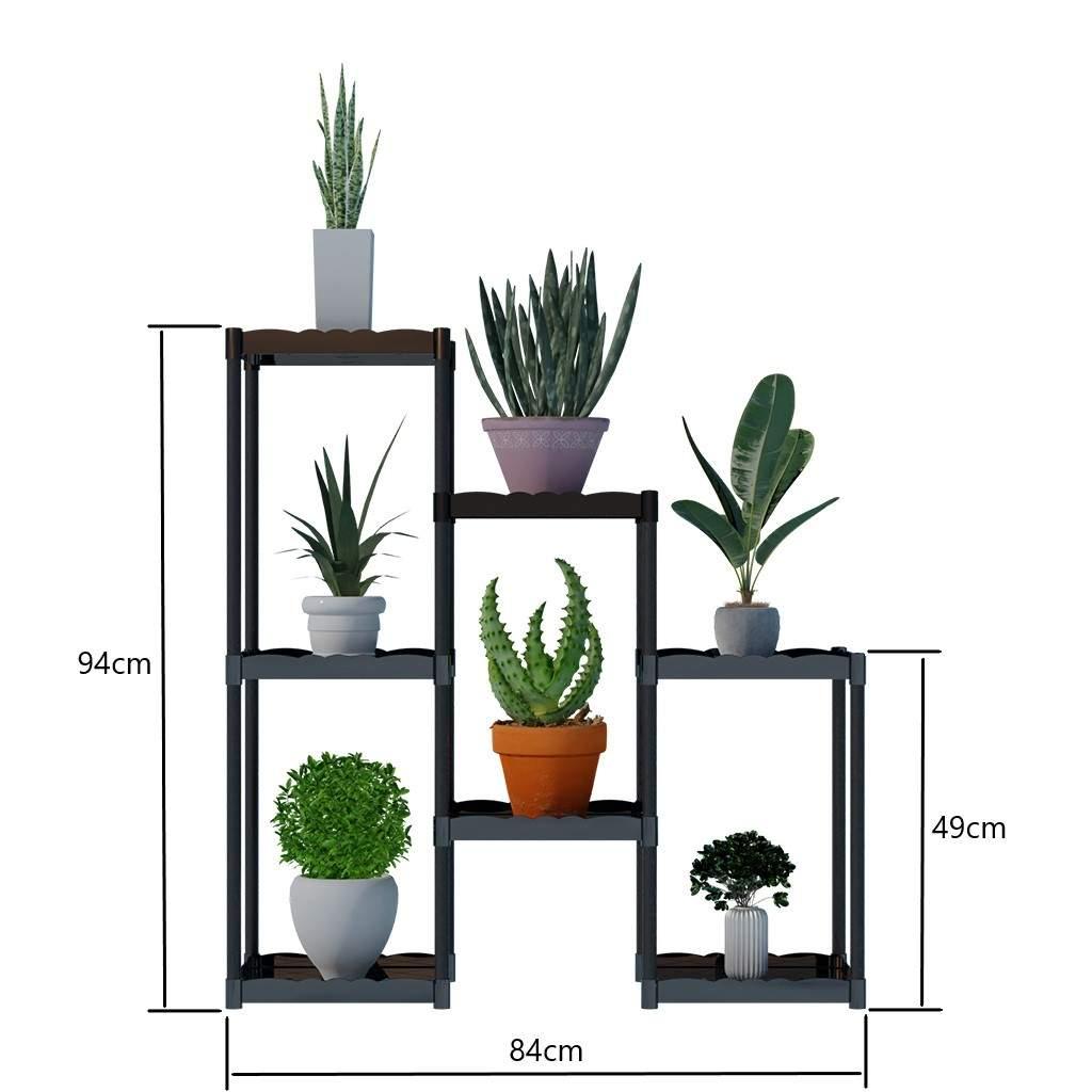 Moniev Işıl 7 Raflı Plastik Dekoratif Çiçeklik Saksı Standı