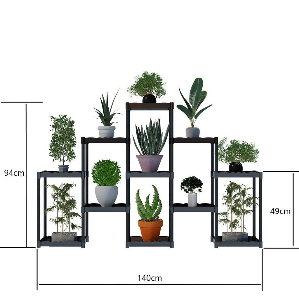 Moniev Işıl 11 Raflı Plastik Dekoratif Çiçeklik Saksı Standı