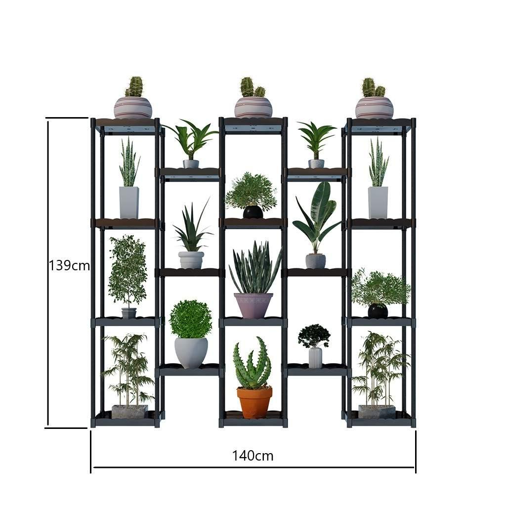 Moniev Işıl 18 Raflı Plastik Dekoratif Çiçeklik Saksı Standı