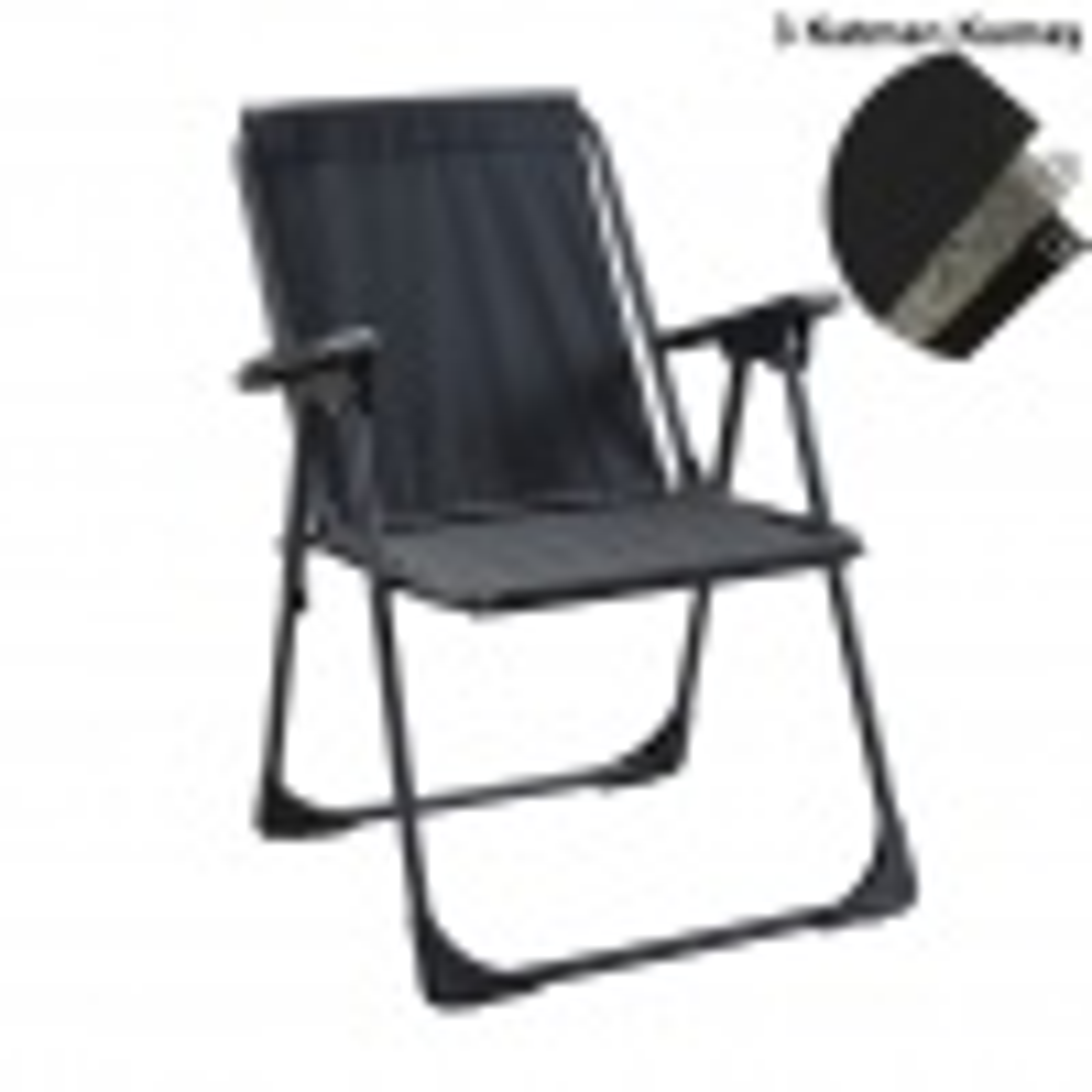 Katlanır Kamp Piknik Sandalyesi Plaj Koltuğu Şezlong Siyah