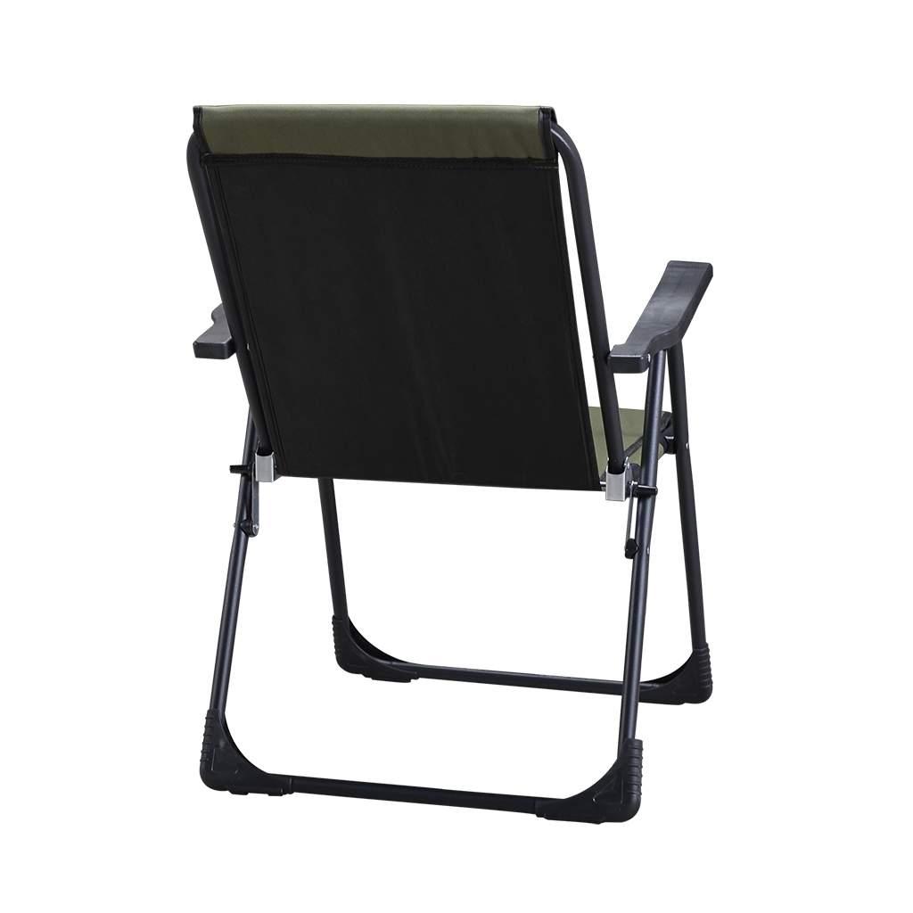 Yeşil Katlanır Kamp Piknik Sandalyesi ve Oval Bardaklık