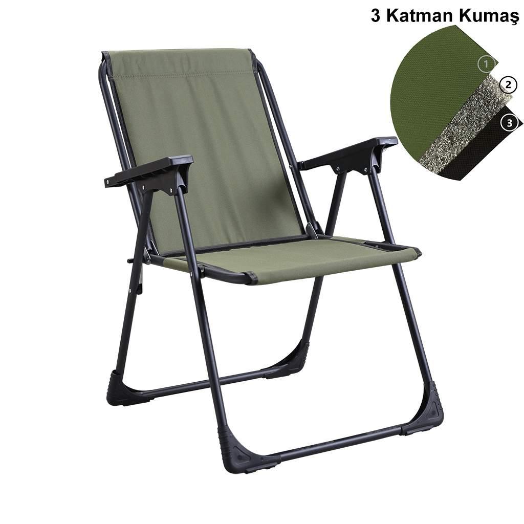 Katlanır Kamp Piknik Sandalyesi Plaj Koltuğu Şezlong Yeşil